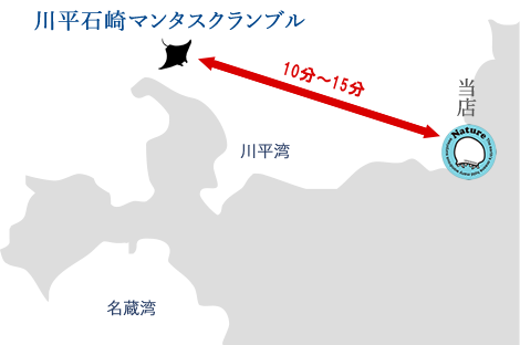 川平石崎マンタスクランブル