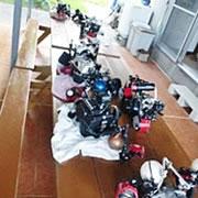 準備に便利な広いテーブル