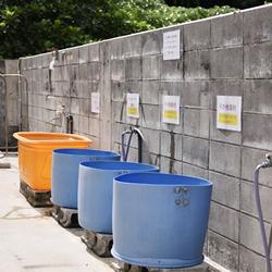ダイビング器材の洗い場