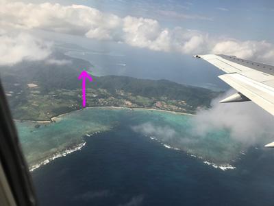 飛行機から見えた